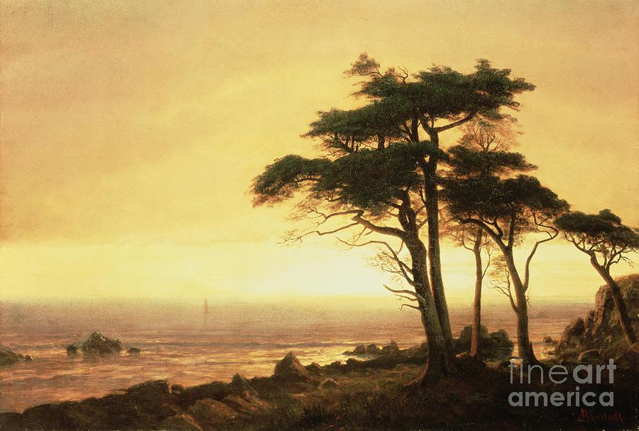 Albert Painting - California Coast by Albert Bierstadt
