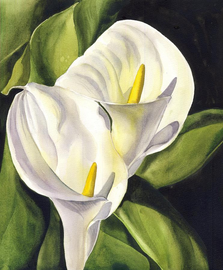 Calla Lily Painting by Alfred Ng
