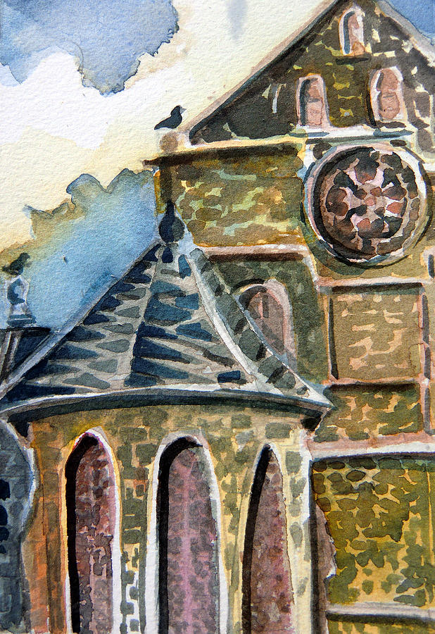 England Painting - Cantebury Cathedral by Mindy Newman