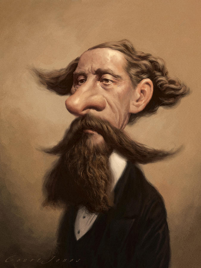 Charles Dickens Painting by Court Jones