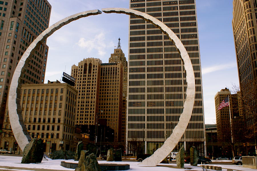 Detroit Photograph - Circle Of Labor by Sonja Anderson