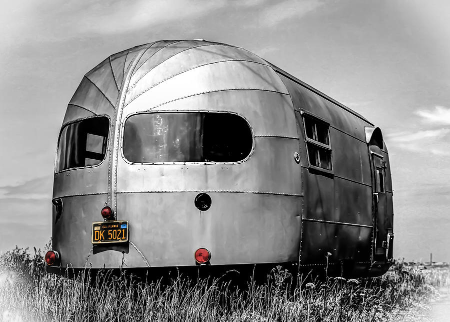 Airstream Photograph - Classic Airstream Caravan by Ian Hufton