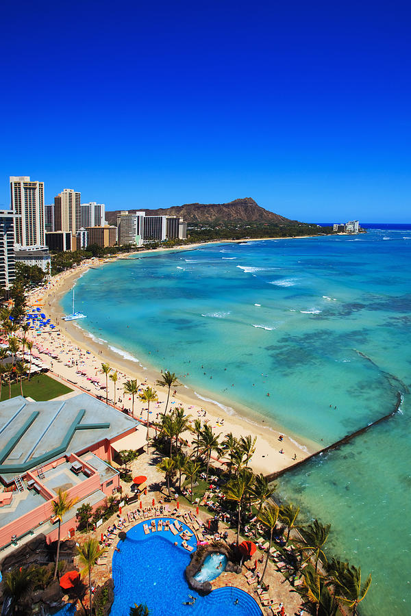 Above Photograph - Classic Waikiki by Tomas del Amo - Printscapes