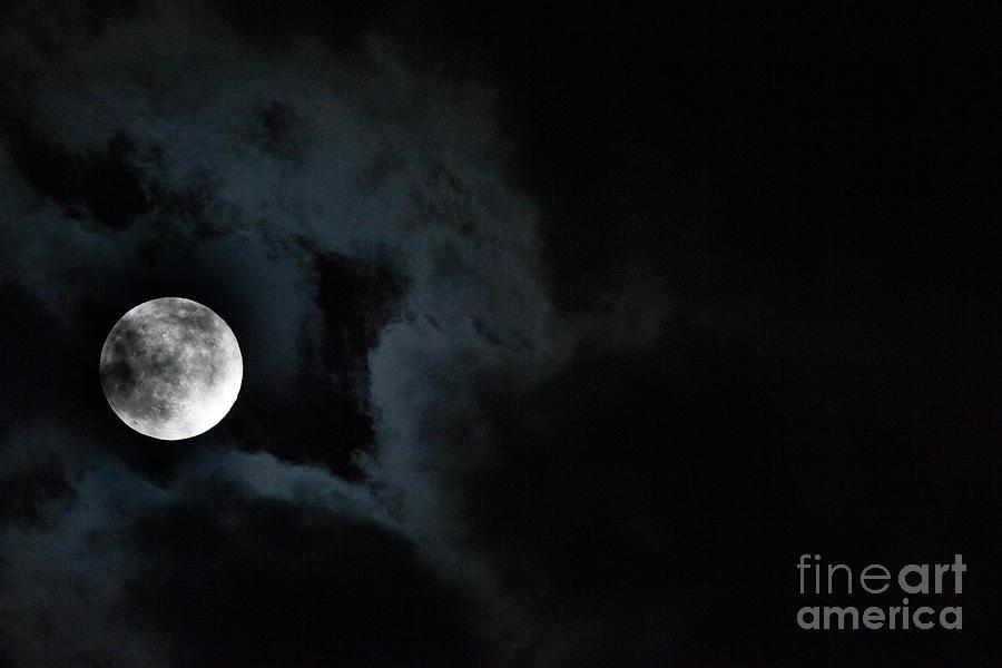 Cloudy Moon Photograph