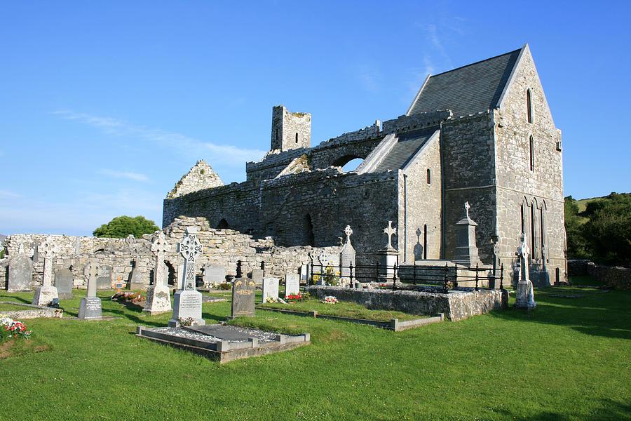 Corcomroe Photograph - Corcomroe Abbey by John Quinn