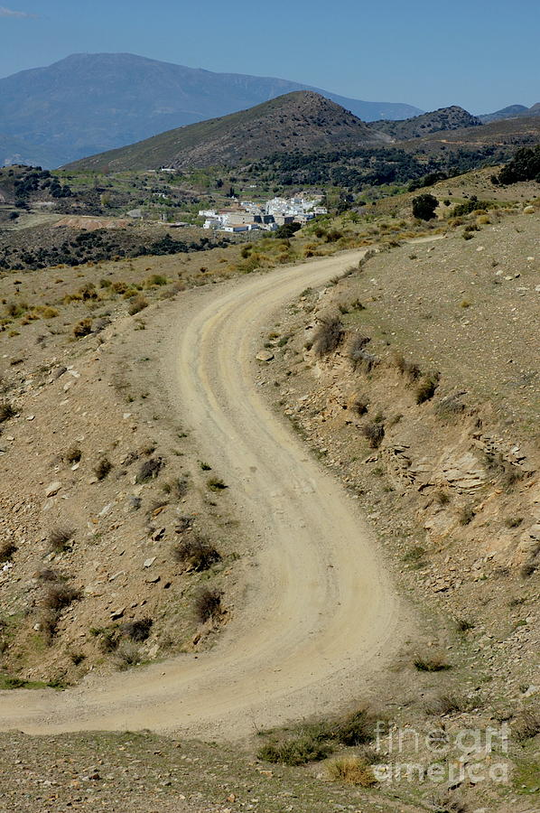 Alpujarra Photograph - Dirt Road Winding by Sami Sarkis