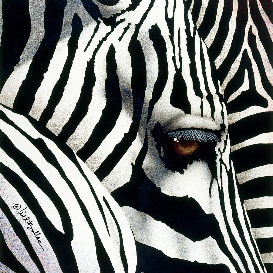 Will Bullas Painting - Do Zebras Dream In Color? by Will Bullas