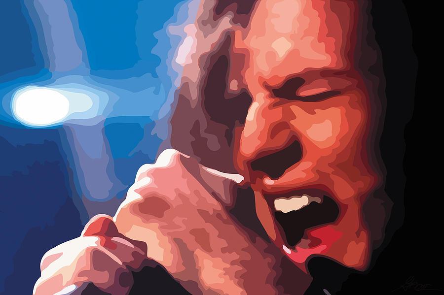 Black Digital Art - Eddie Vedder by Gordon Dean II
