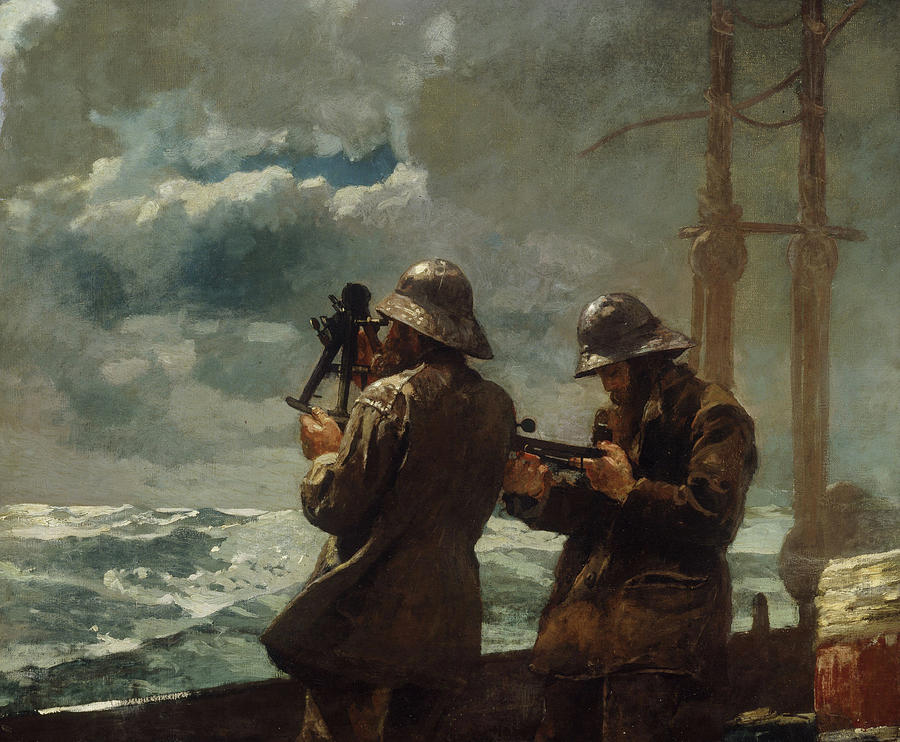 Eight Bells By Winslow Homer (oil On Canvas) Sea Painting - Eight Bells by Winslow Homer