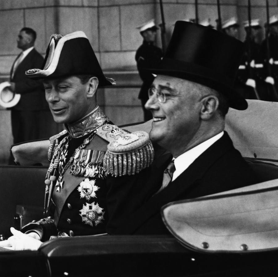 1930s Photograph - Fdr Presidency. King George Vi by Everett