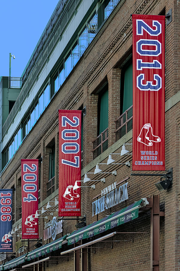 Fenway Boston Red Sox Champions Banners Photograph By