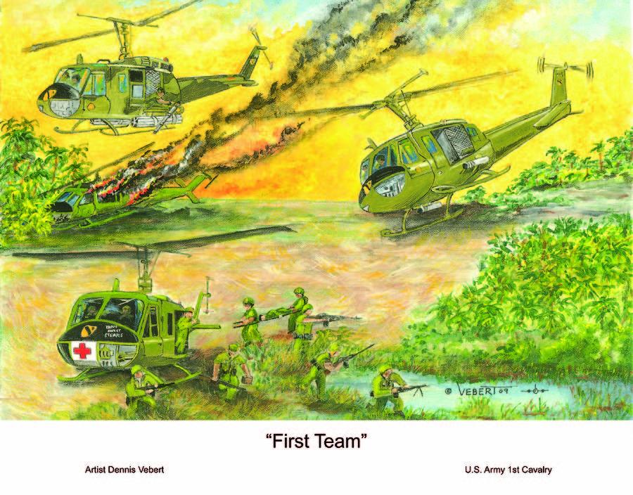 Aviation Art Painting - First Team by Dennis Vebert