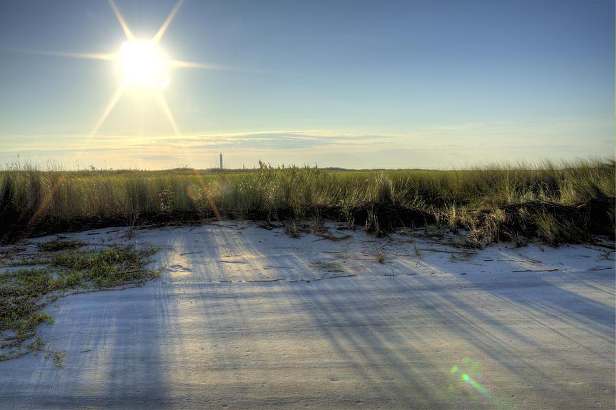 Folly Beach Sunrise Over Morris Island Photograph