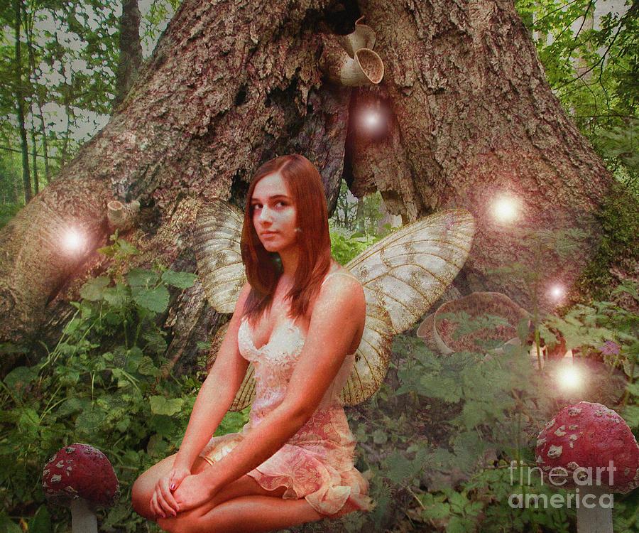 Fairy Digital Art - Forest Fairy by Patricia Ridlon
