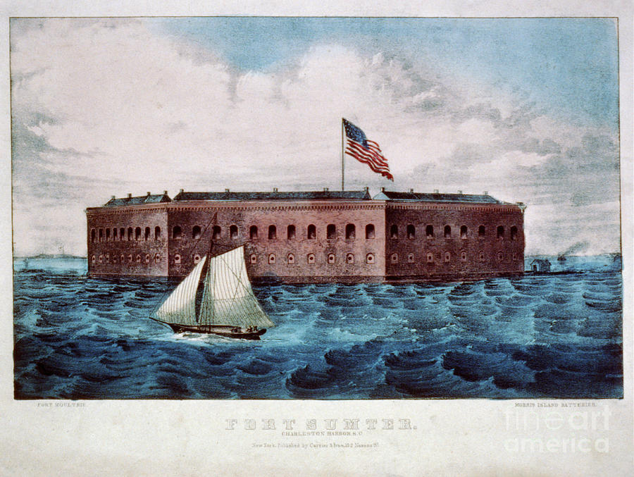 Vintage Image Of Fort Sumter Photograph