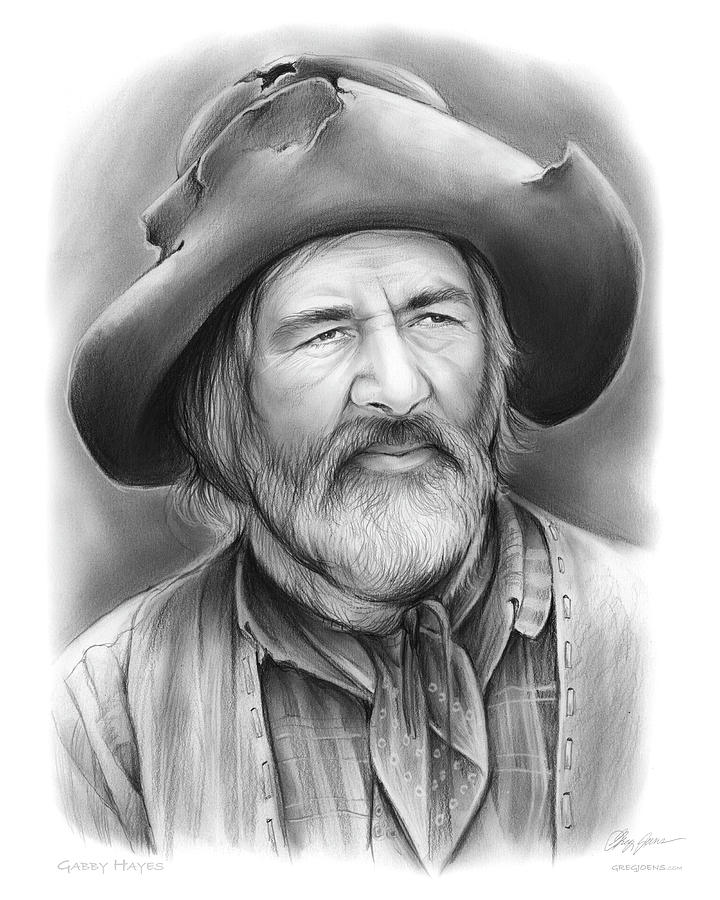 Gabby hayes drawing by greg joens for Gabby hayes