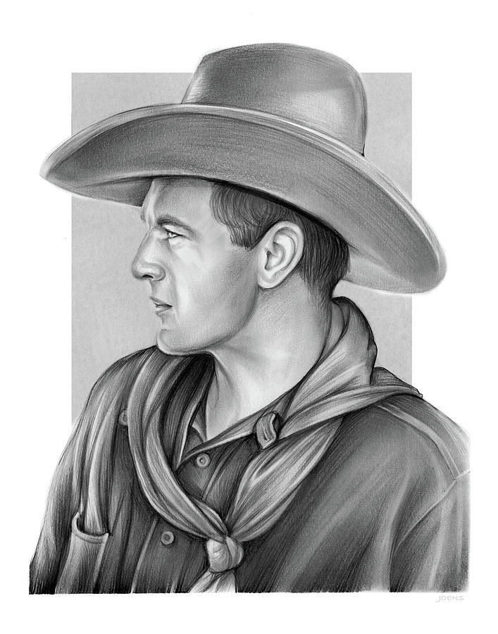 Gary Cooper Drawing