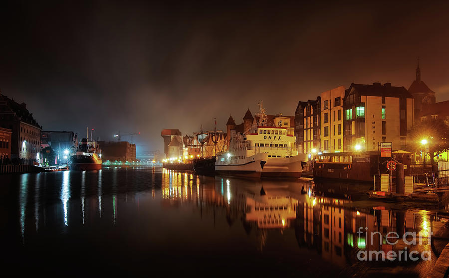 Gdansk At Night Photograph