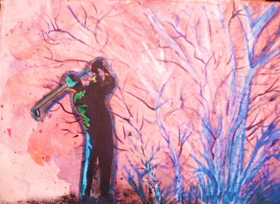 Golfer In The Pink For Par II Painting