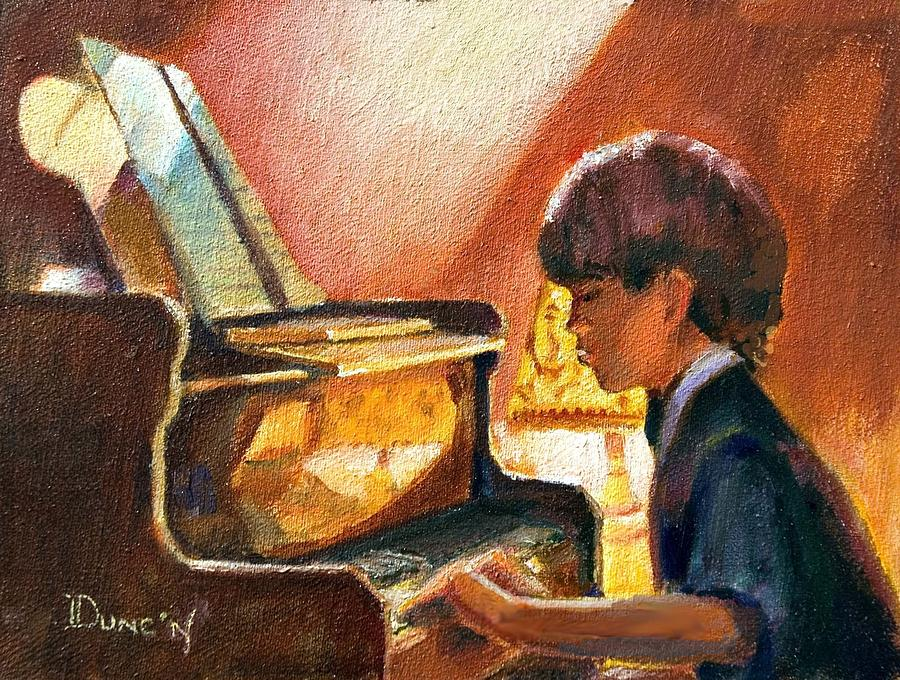 Image result for painting of boy at piano