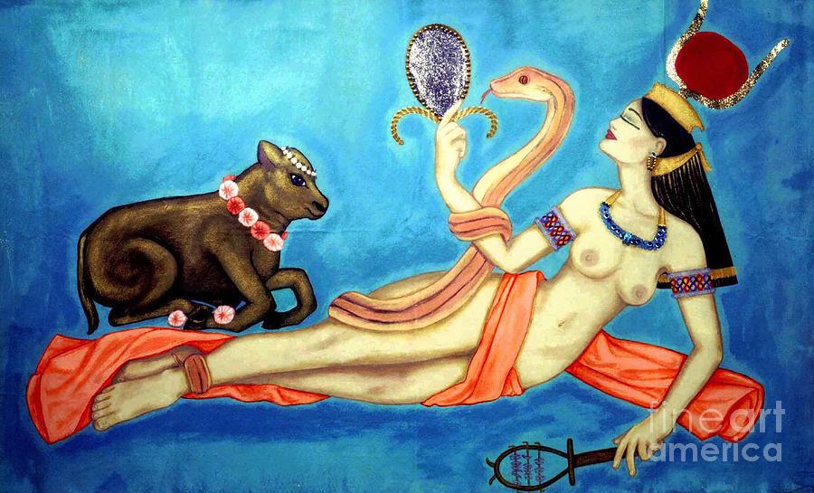 Hathor Painting - Hathor by DiVeena Seshetta