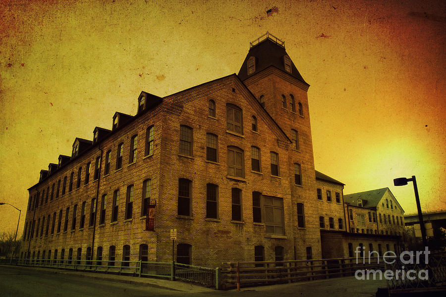 Historic Photograph - Historic Fox River Mills by Joel Witmeyer
