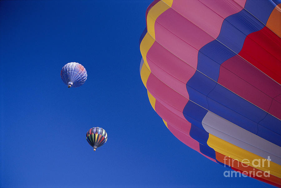 Air Photograph - Hot Air Balloons by Greg Vaughn - Printscapes