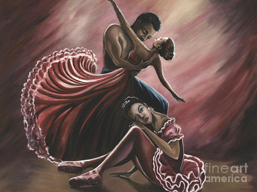 Dancer Painting - In A Dream by Toni  Thorne