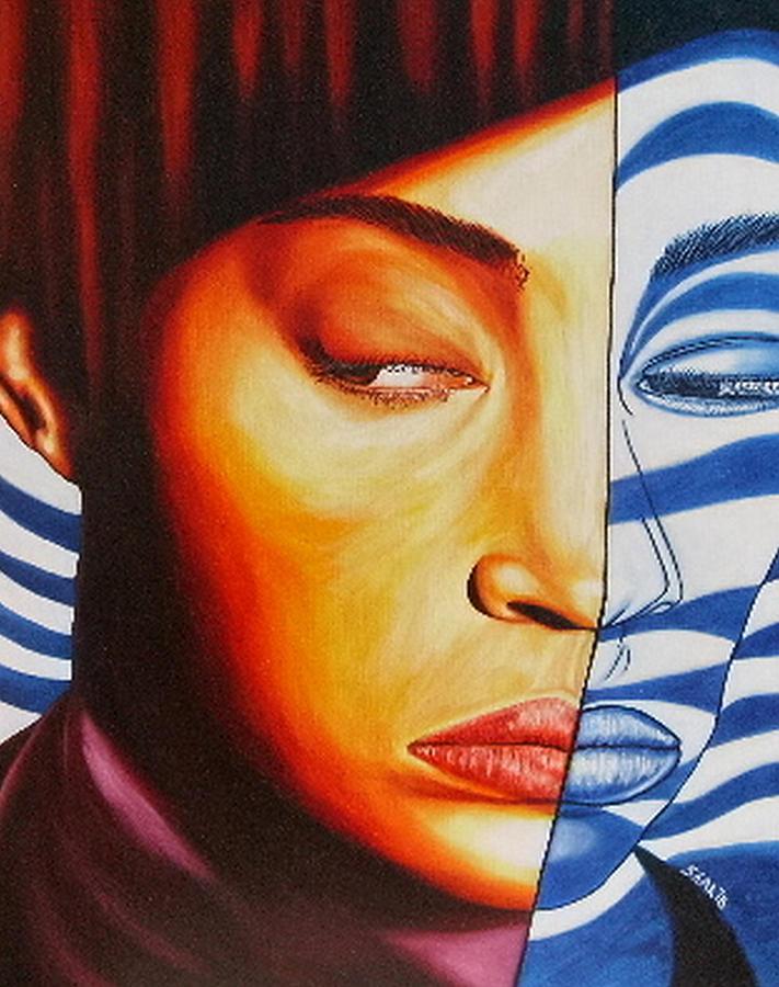 Portrait Painting - Intuition by Shahid Muqaddim