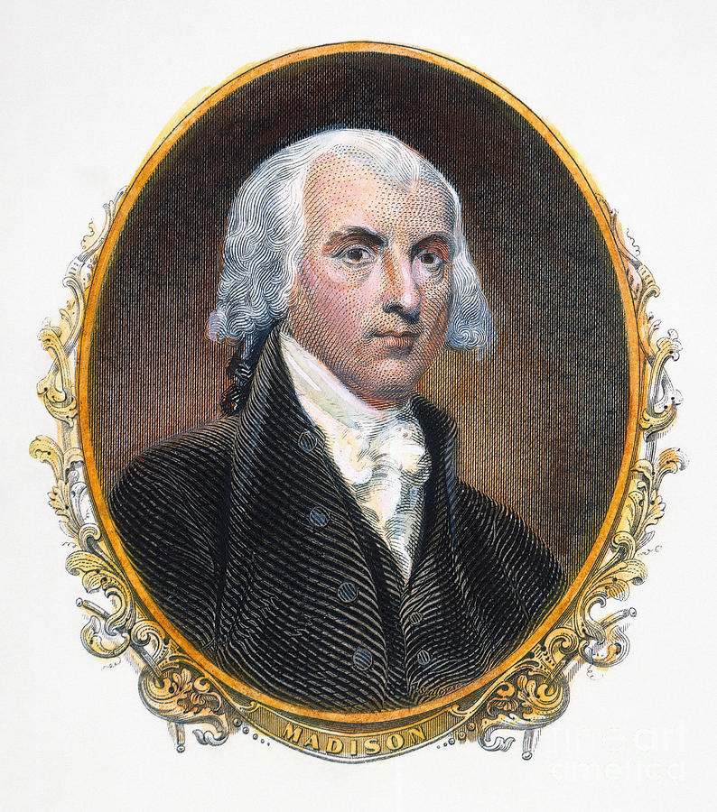 19th Century Photograph - James Madison (1751-1836) by Granger