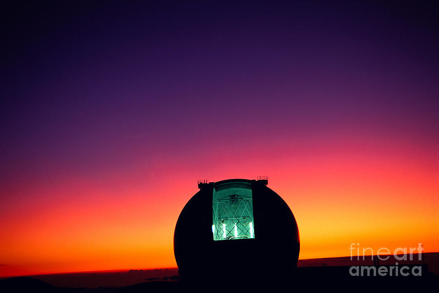 Architectural Art Photograph - Keck Observatory by Peter French - Printscapes