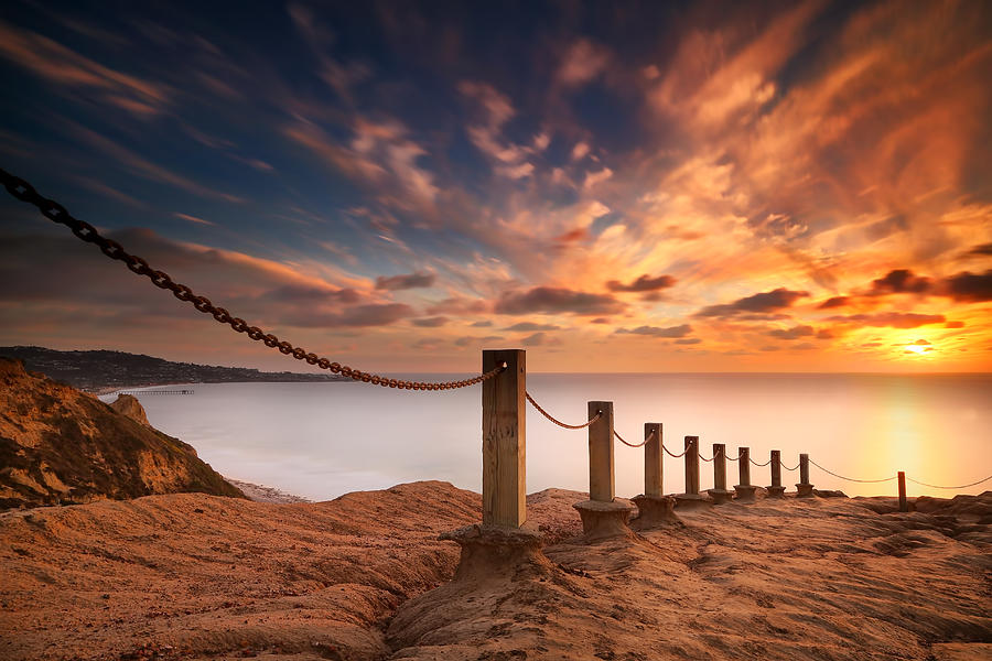 Sun Photograph - La Jolla Sunset 2 by Larry Marshall