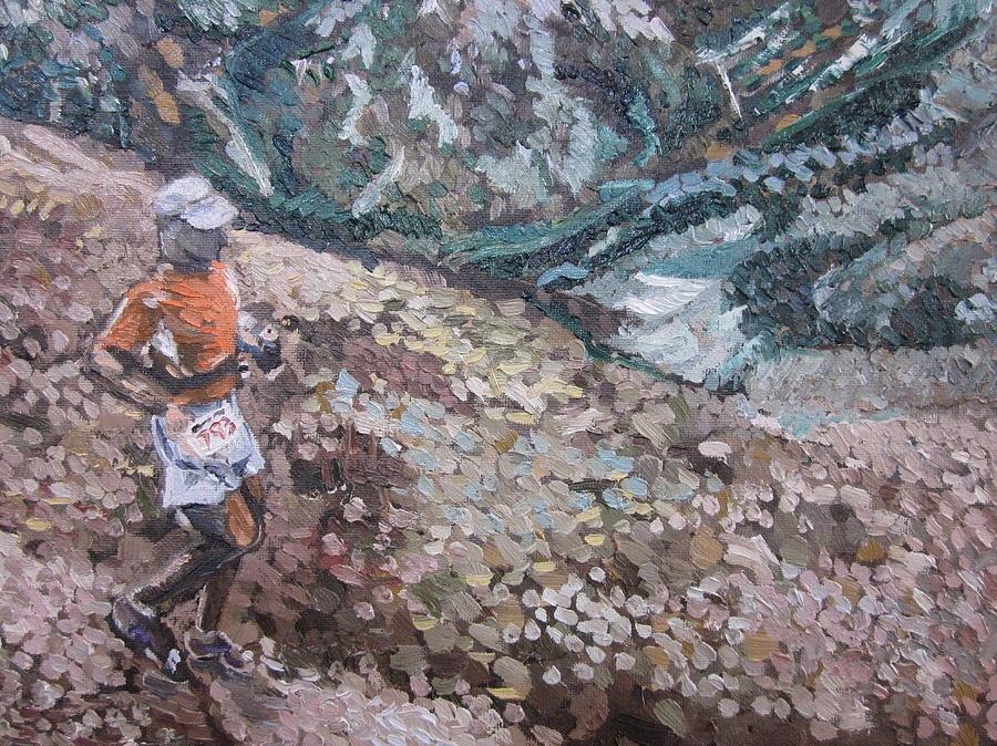 Colorado Painting - Leadville 100 Ultra by Kendal Greer