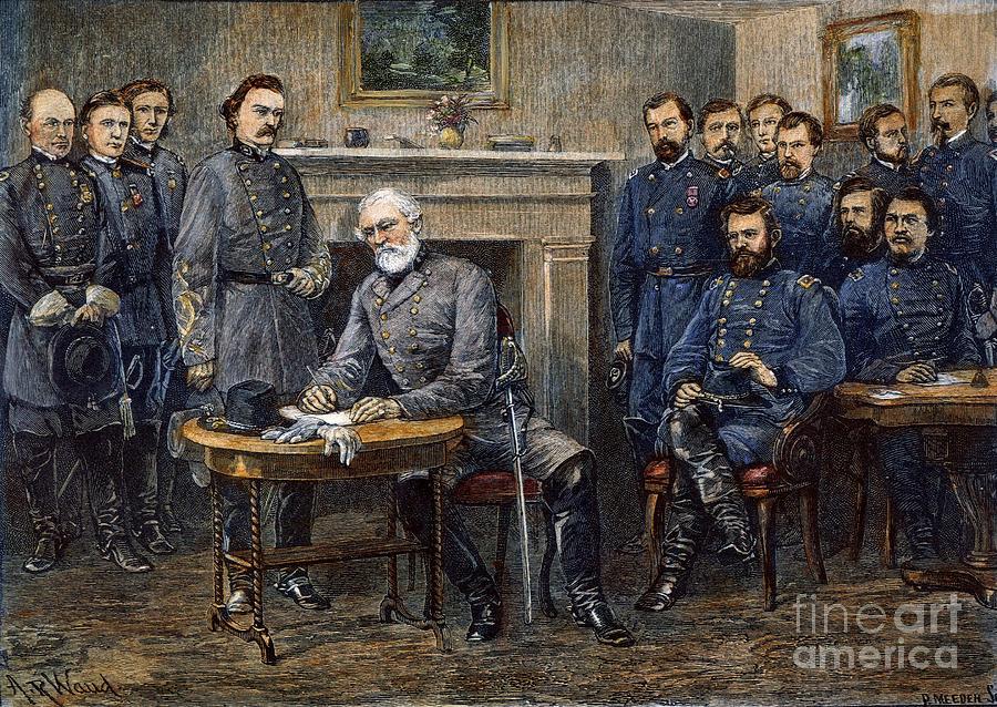 1865 Photograph - Lees Surrender, 1865 by Granger