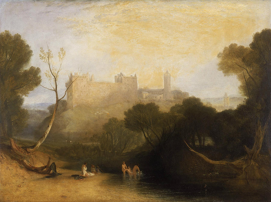 19th Century Art Painting - Linlithgow Palace by Joseph Mallord William Turner