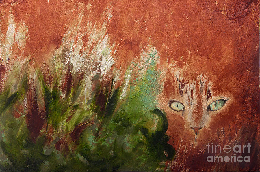 Abstract Painting - Lionesque by Sandra Silva