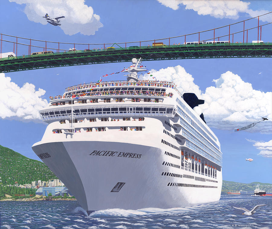 Travel Painting - Lions Gate Bon Voyage by Neil Woodward
