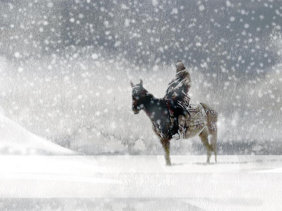 Native American Painting - Longest Winter by Paul Sachtleben