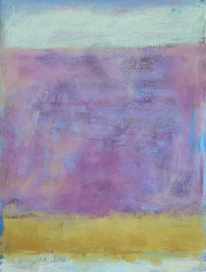 Abstract Painting - Maine - December by Jacquie Gouveia