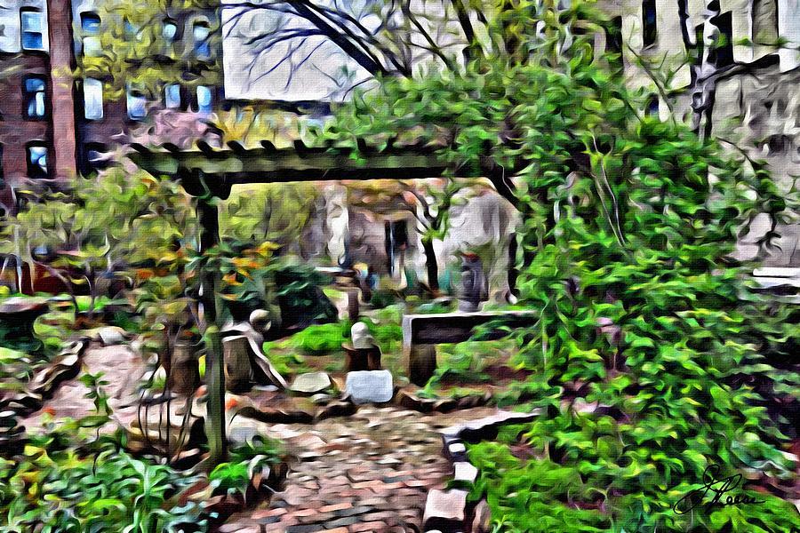 Manhattan Community Garden Photograph by Joan Reese