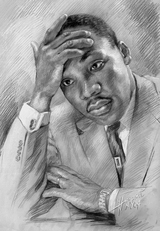 Martin Luther King Jr Drawing - Martin Luther King Jr by Ylli Haruni