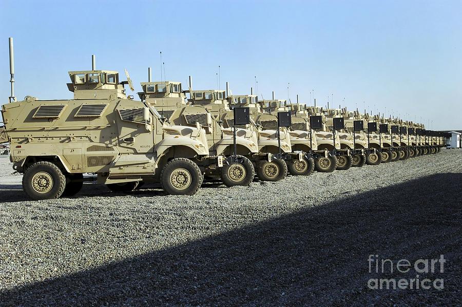 Wheels Photograph - Maxxpro Mine Resistant Ambush Protected by Stocktrek Images