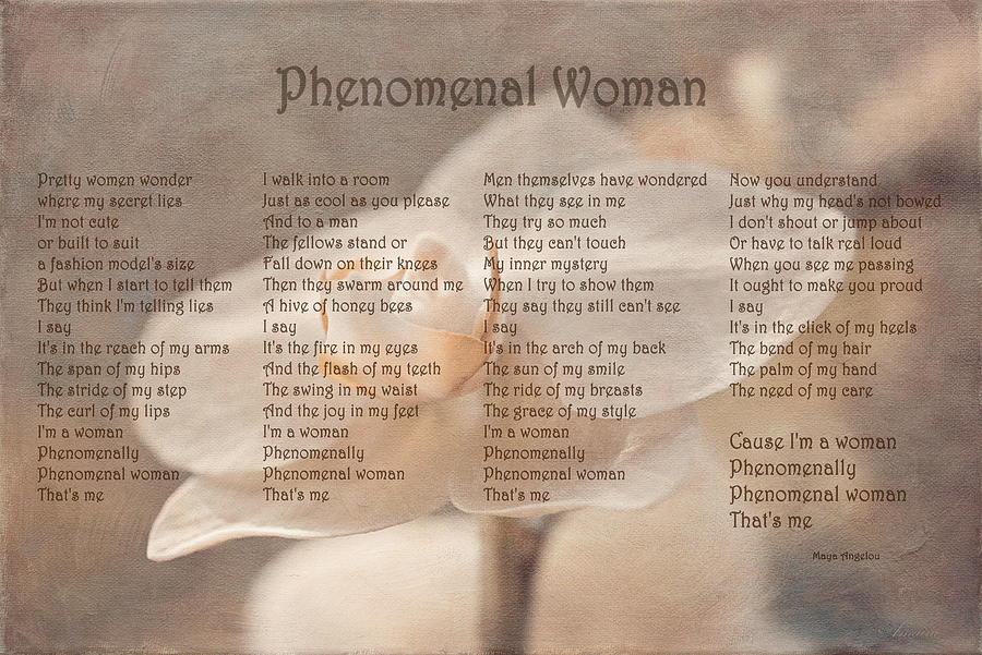 phenomenal woman essay What would be a good thesis statement and opening sentence for the poem phenomenal woman by maya angelou i really need help on this because i.