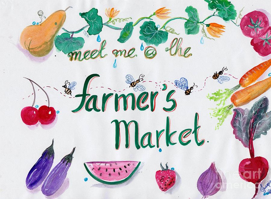 meet me at the farmers market print