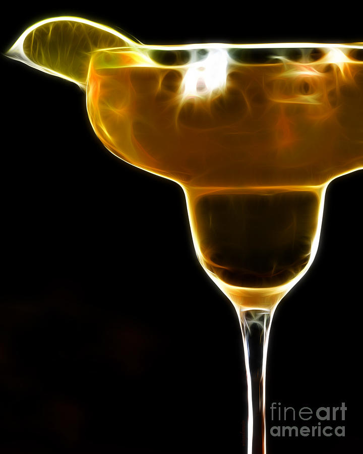 Alcohol Photograph - Mexico Gold . Lime Margarita by Wingsdomain Art and Photography