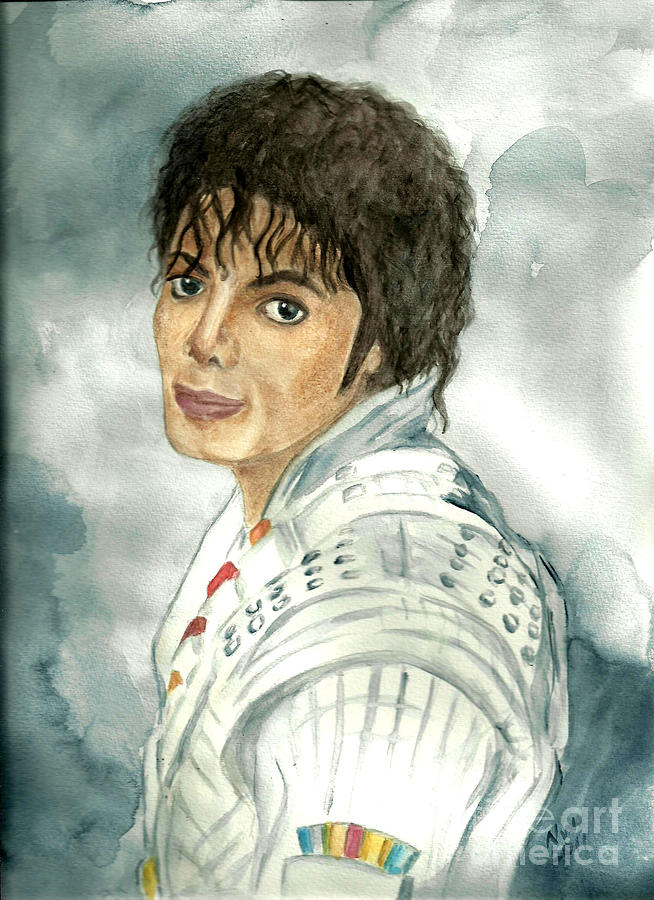 Michael Jackson Painting - Michael Jackson - Captain Eo by Nicole Wang