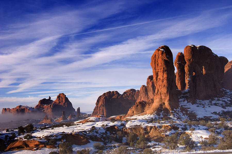 Arches National Park Photograph - Mist Rising In Arches National Park by Utah Images
