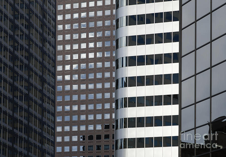 Architecture Photograph - Modern High Rise Office Buildings by Roberto Westbrook