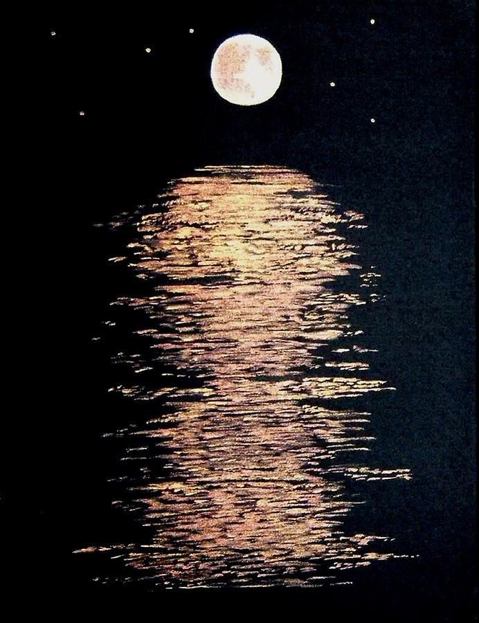Moon River Painting by Linda Powell