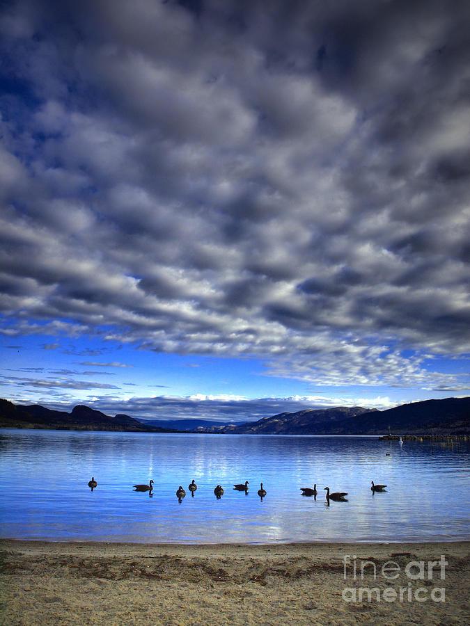 Clouds Photograph - Morning Light On Okanagan Lake by Tara Turner